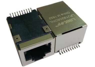 LPJ19205DNL SMT POE Rj45 Jack , 1x 10/100Mbps IEEE 802.3af Power over Ethernet