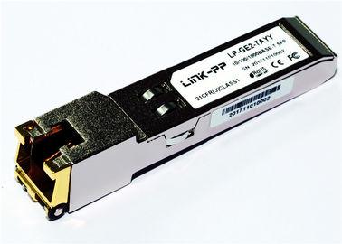 Rj45 কপার এসএফপি 10/100/1000 বেস-টি SGMII -40 ° C থেকে + 85 ° C শিল্পকৌশল তাপমাত্রা 1.25 গিগাবিট ইথারনেট
